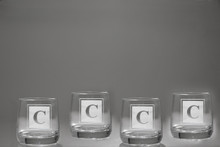 Diamante Double Old Fashioned Glasses, Set of 4