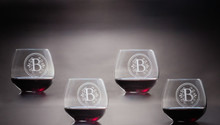 Balloon Red Wine Stemless Glasses, Set of 4 | The Crystal Shoppe