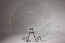 "Glass 16"" Serving Plate: The Giving Plate"