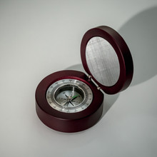 Compass in Rosewood Box - Great Gift For Men Or Father's Day