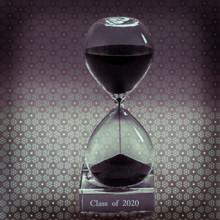 Graduation Gift Engraved (Half) Hour-Glass Personalized Achievement Award