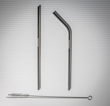 Set/2 Personalized Stainless Steel Sustainable Straws, Engraved Socially Responsible Recyclable Reusable Drinking Stalks $12.50/pr