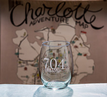 Area Code Engraved Stemless Wine Glass with Area Code, Personalized Area Code Glasses, Etched Birthday Gift, Unique Personalized Gifts