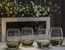 Personalized Wedding Party Glassses