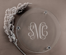 Personalized Cadenza Footed Crystal Platter