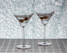 Personalized Martini Olive Glasses, Pair