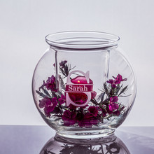 Personalized Bubble Bowl and Votive Insert