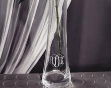 Monogrammed Bud Vase, Personalized Bridesmaid Gift, engraved Vase (view)