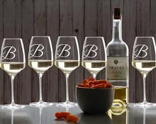 Personalized Selection Wine Glasses, Set of 4, Customized Wine Glasses, Wedding Gift, Housewarming Gift, Birthday Gift, Etched Wine Glasses