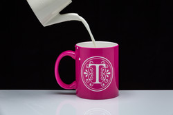 Personalized Glossy Hot Pink Coffee Mug