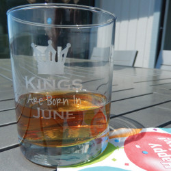Personalized Whiskey Glass with Birthday Month