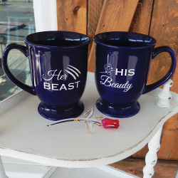 Personalized His and Hers Beauty & The Beast Coffee Mugs Set
