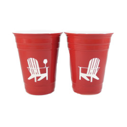 Beach Chair Red Solo Cups - Set of 2 | The Crystal Shoppe