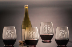 Stemless Wine Glasses, Set of 4   The Crystal Shoppe