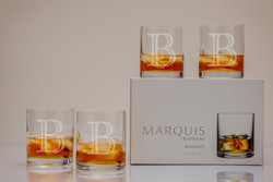 Personalized Marquis Moments DOF (Double Old Fashioned) Glasses Set of 4
