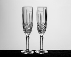 Personalized Brady Crystal Toasting Glasses by Waterford