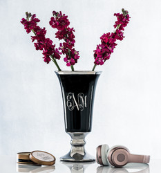 Etched Eve Ceramic Centerpiece, $45 (Shown with eNm, Interlock)