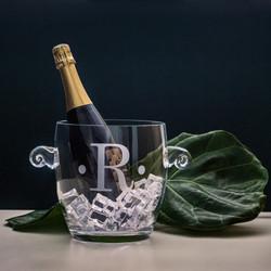 Monogrammed Verona Ice Bucket,  Engraved Barware, Wedding Gifts, Groomsman Gifts, Etched Housewarming Gifts