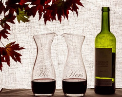 Personalized Individual Wine Carafes