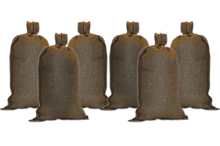 Army Hessian Sand Bags - Set of 6