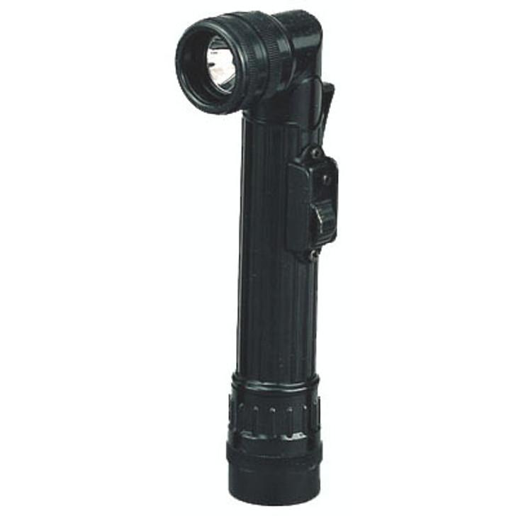 Mini Military Style Angle Flashlight - Black