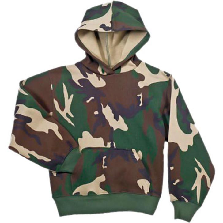 Kids Hooded Sweatshirt Camo