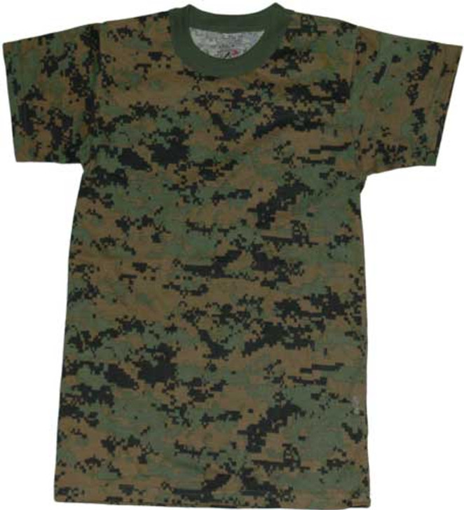 Kids Camo T-Shirt - Woodland Digital