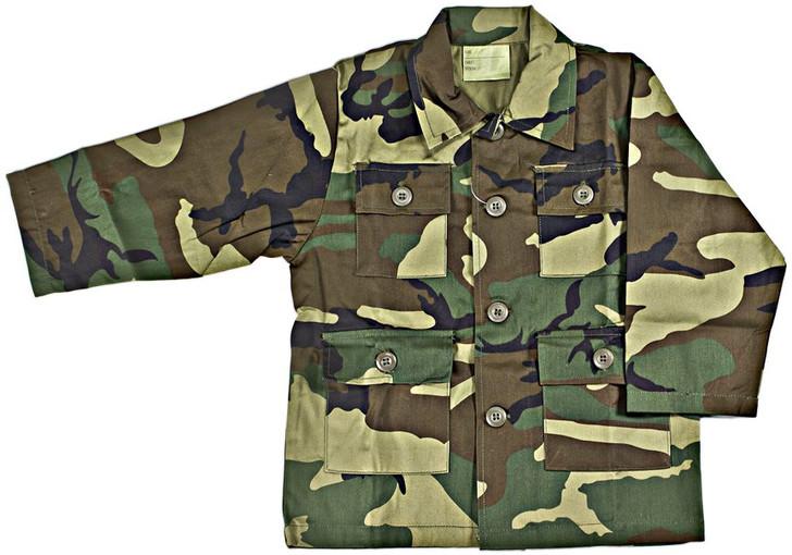 Kids BDU Shirt - Woodland Camo