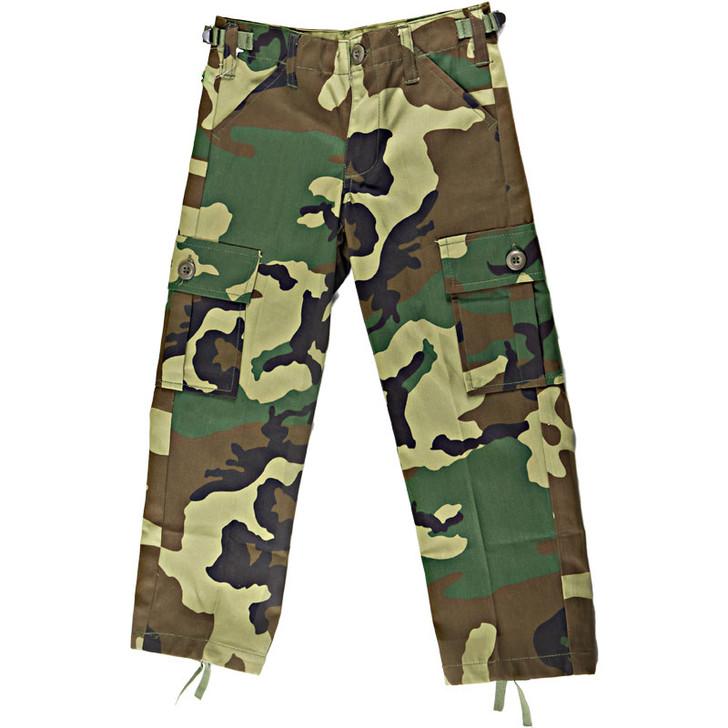 Kids BDU Pants - Woodland Camo