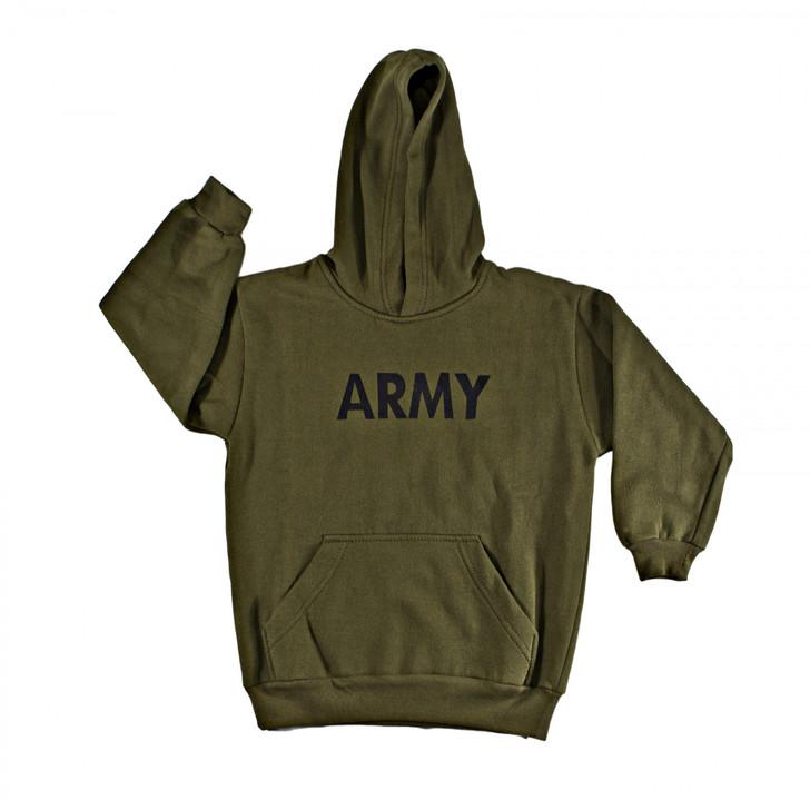 Hooded Sweatshirt - Army Insignia