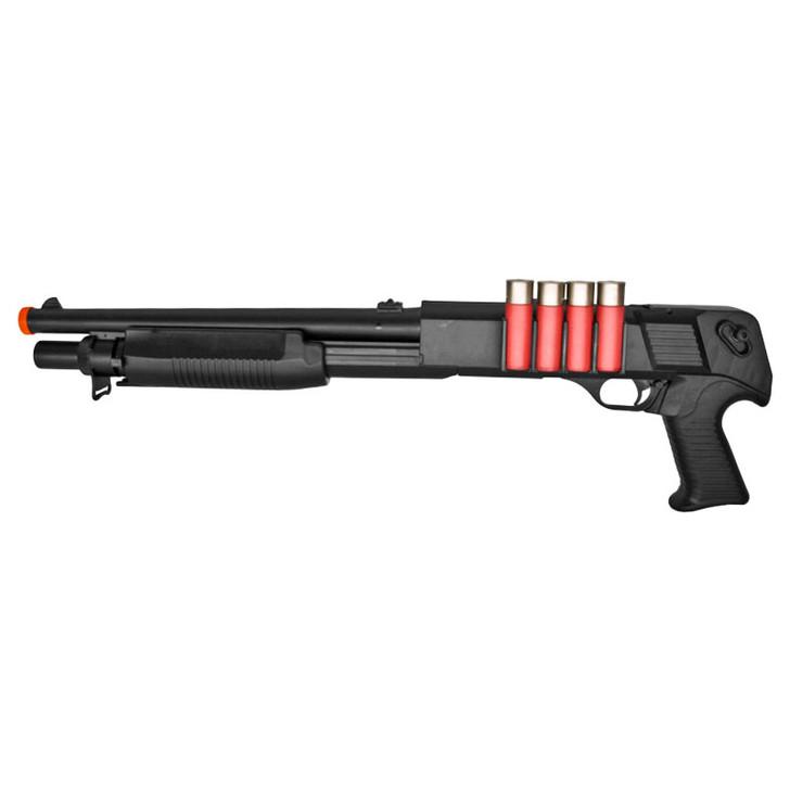 Spring Shotgun w/ 4 Bullet Shells, Pistol Grip