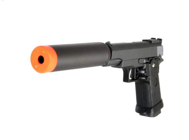 Spring Metal Airsoft 1911 Pistol with Silencer
