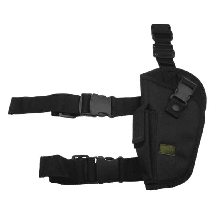 Kids Black Drop Leg Holster - Front