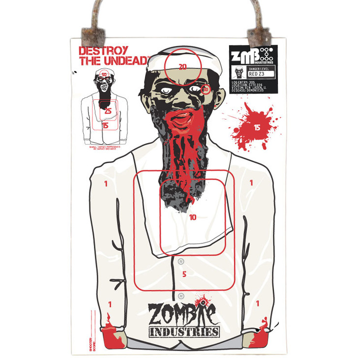 Colossal Paper Shooting Target - Zombie Terrorist - 10 Pack