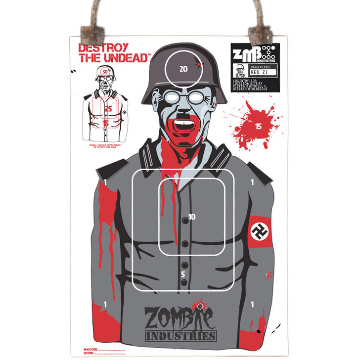 Colossal Paper Shooting Target - Zombie Nazi - 10 Pack