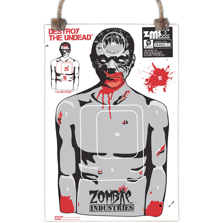 Colossal Paper Shooting Target - Zombie Chris - 10 Pack