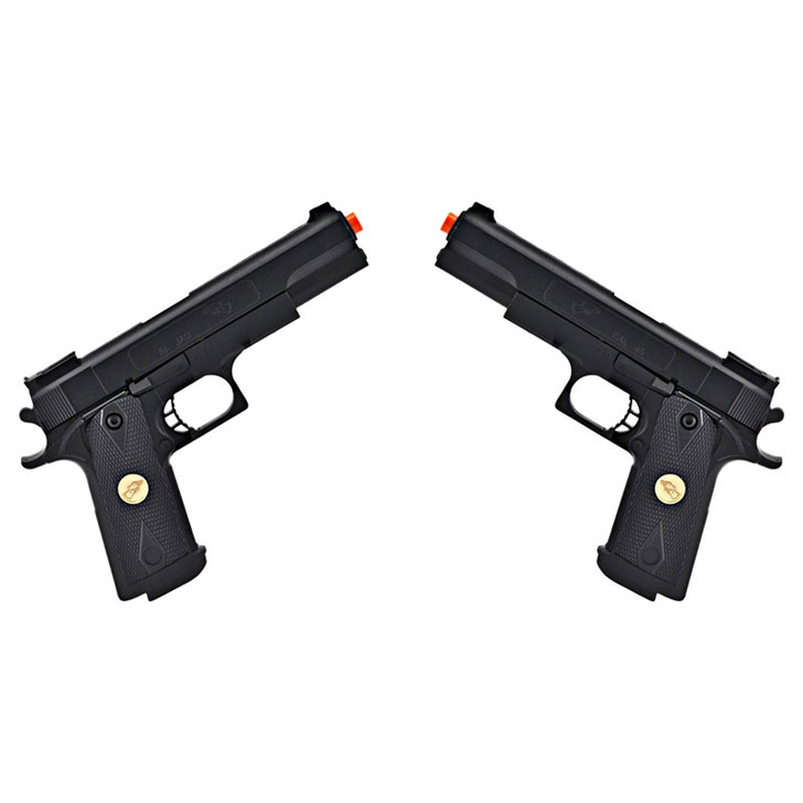 .45 Caliber Double Eagle Airsoft Pistols - Set of Two