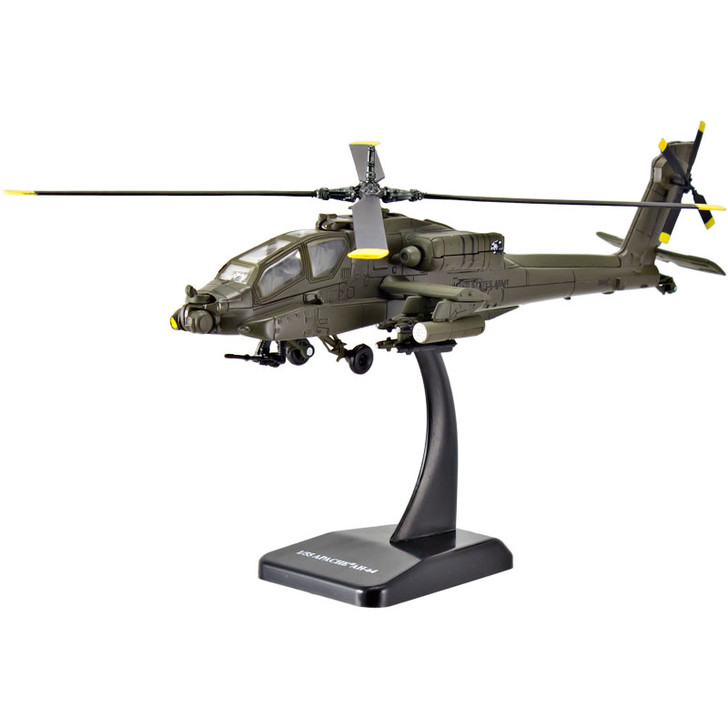 Die-Cast AH-64 Apache Helicopter