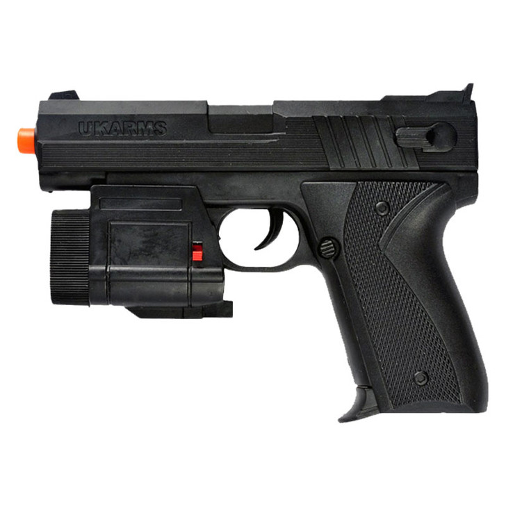 Beretta Style Spring Airsoft Pistol with Tactical Laser and Flashlight