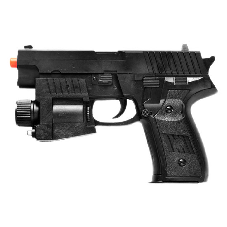 Beretta Style Spring Airsoft Pistol with Tactical Laser