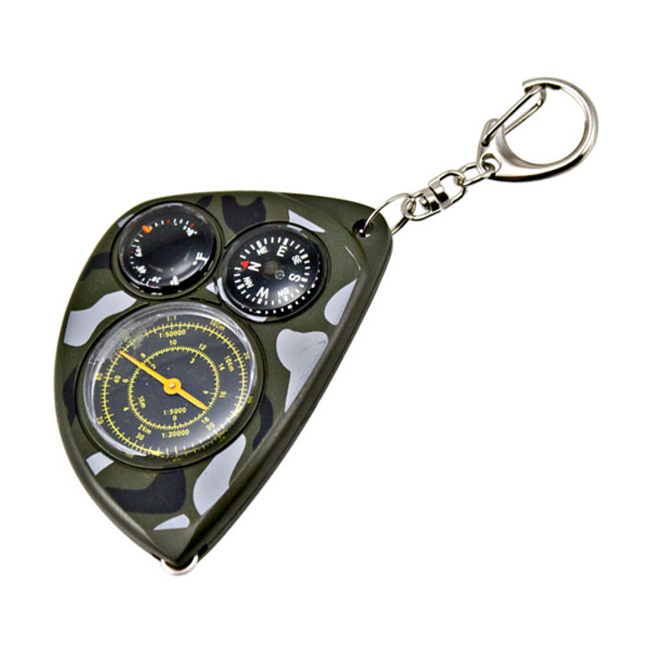 Key Chain with built in Map Reader, Compass, and Thermometer