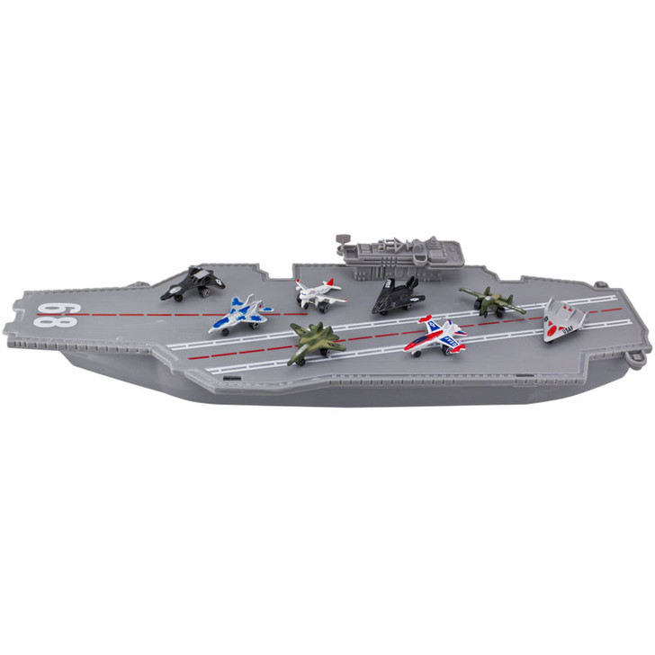 """16"""" Aircraft Carrier with 8 Die-Cast Planes"""