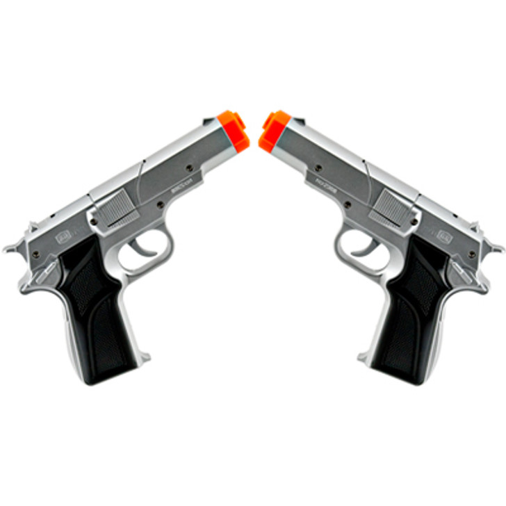 Silver Cap Guns - Set of Two