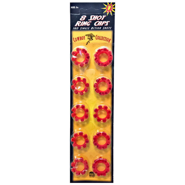Cowboy Collection 8-Shot Ring Caps - 20 Pack