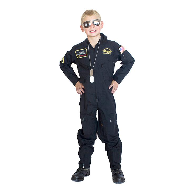 Top Gun Flight Suit Costume - Black