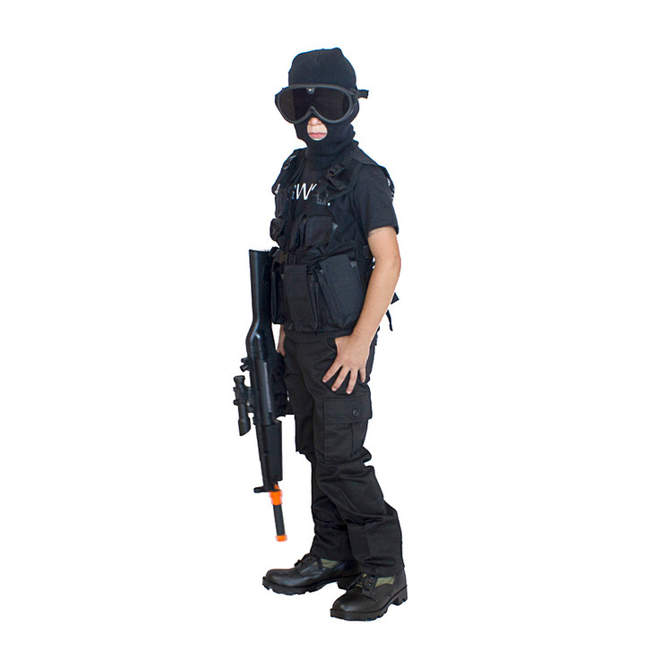 SWAT Man with Balaclava and Goggles Costume