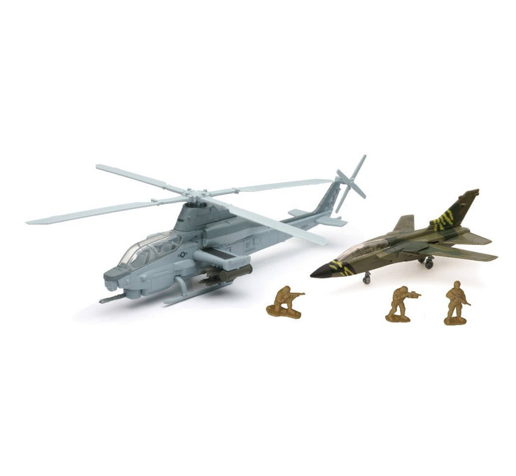 Military Mission Cobra Helicopter Play Set
