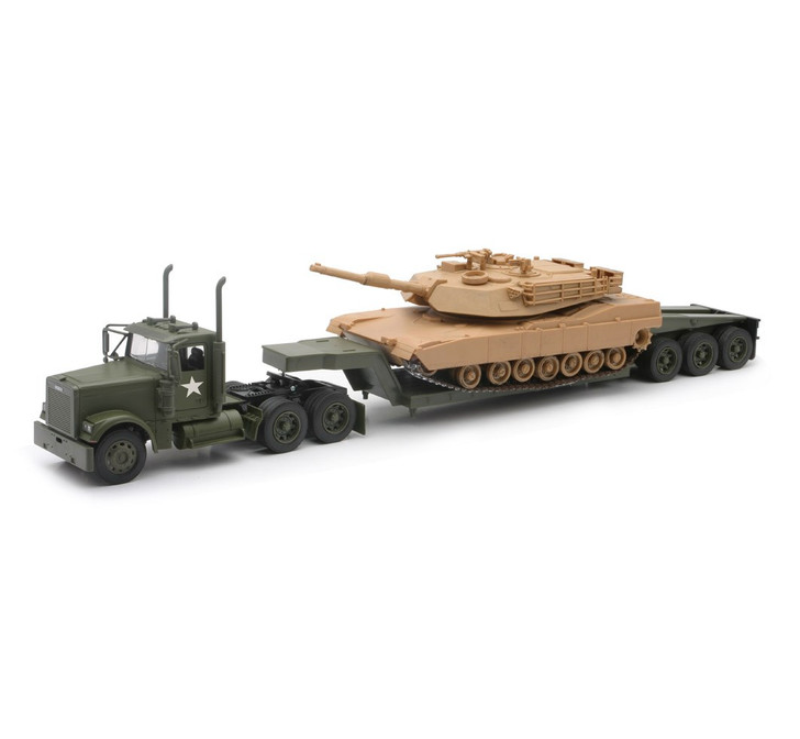 1:32 Scale Military Tank Transporter with Tank