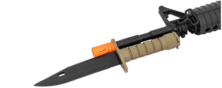 Realistic M9 Rubber Knife Coyote Tan
