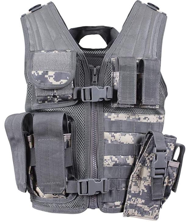 Kids-Army Cross Draw Vest ACU